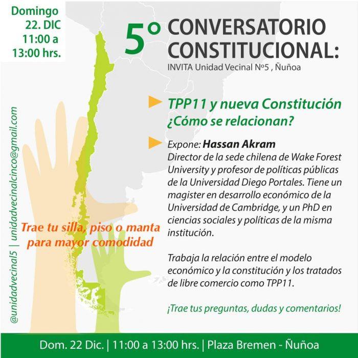 5º conversatorio constitucional de la junta de vecinos plaza bremen